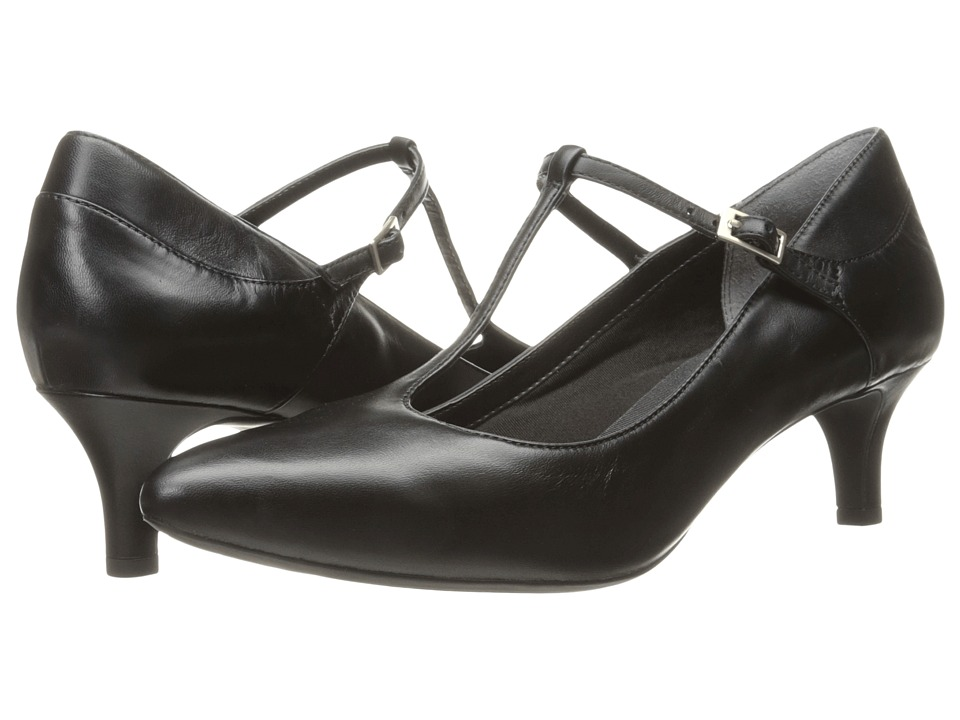 Rockport - Total Motion Kalila T-Strap (Black Leather) Women's Shoes