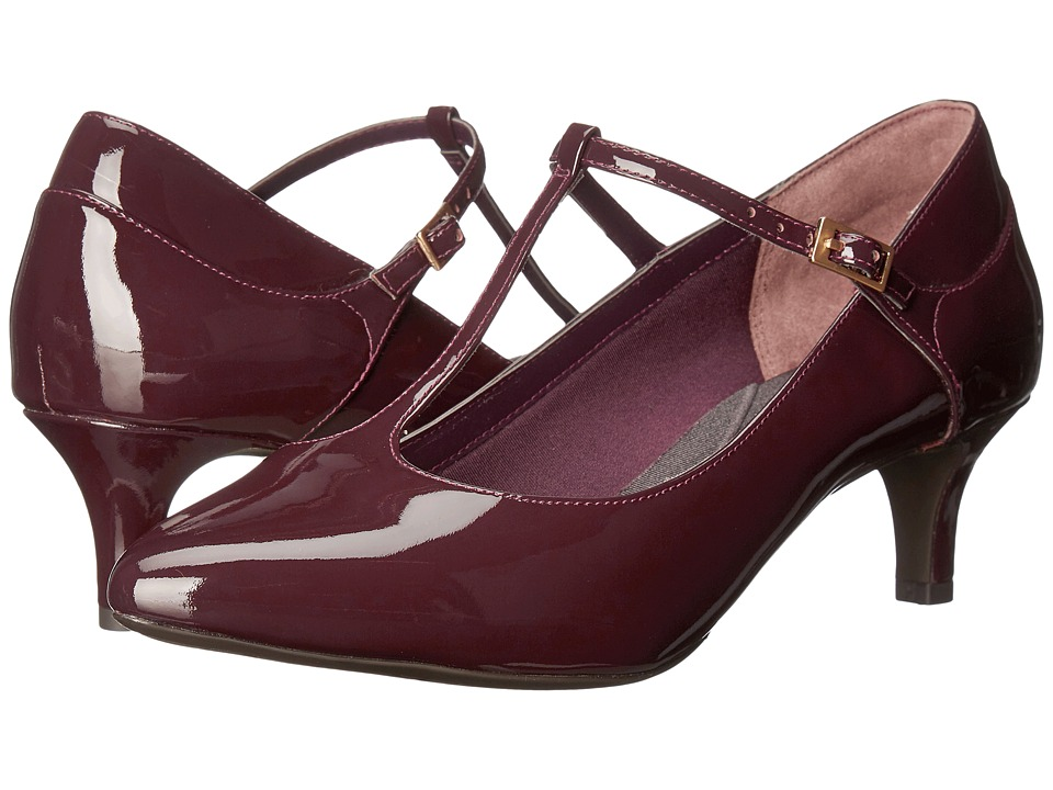 Rockport - Total Motion Kalila T-Strap (Dark Vino Patent) Women's Shoes