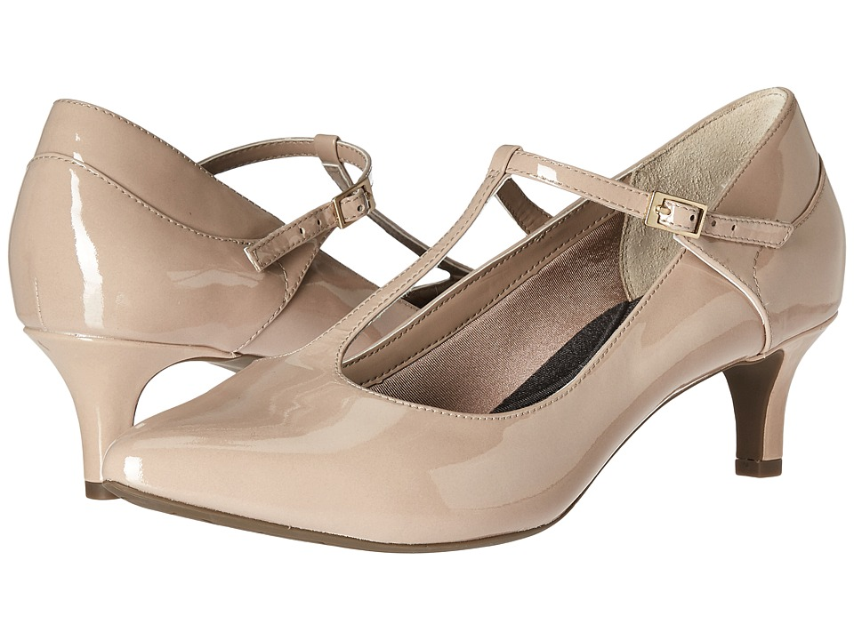 Rockport - Total Motion Kalila T-Strap (Warm Taupe Patent) Women's Shoes