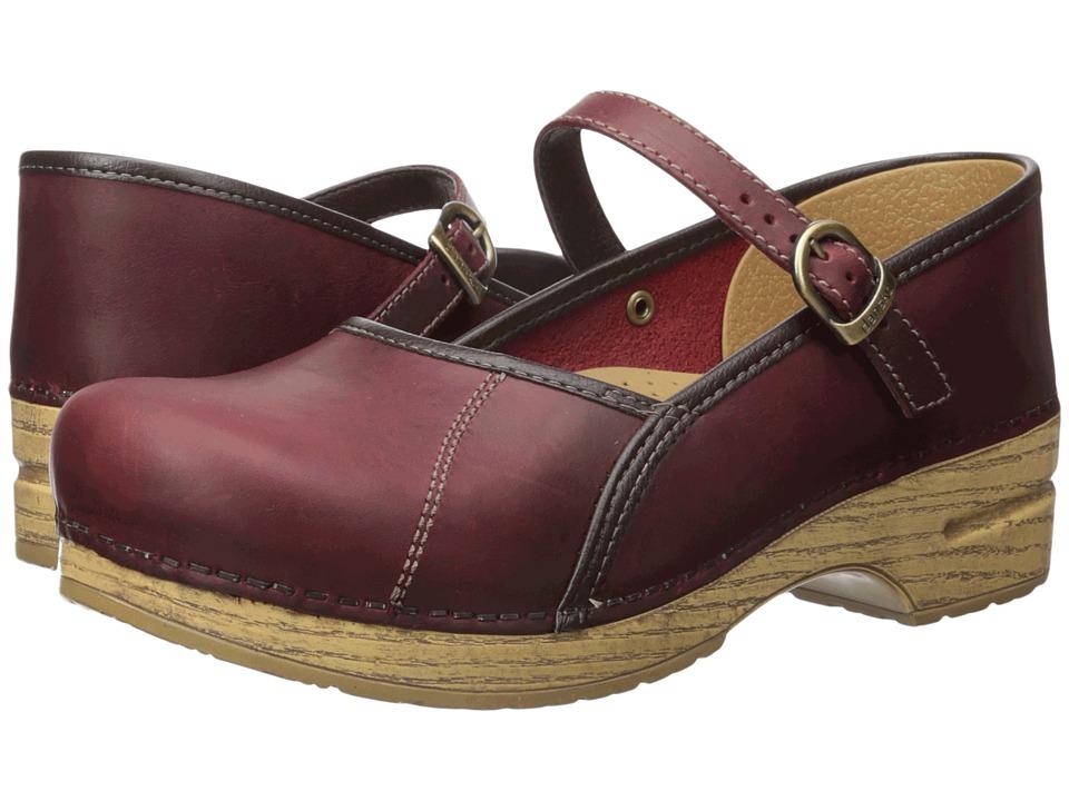 Dansko - Marcelle (Red Oiled) Women's Maryjane Shoes