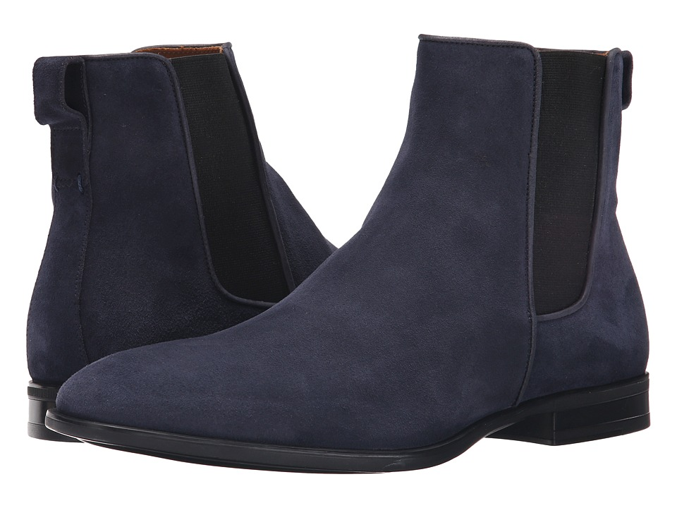 Image of Aquatalia - Adrian (Navy Dress Suede) Men's Pull-on Boots