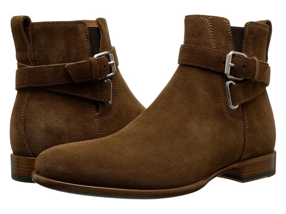 Aquatalia - Kenneth (Medium Brown Dress Suede) Men's Zip Boots