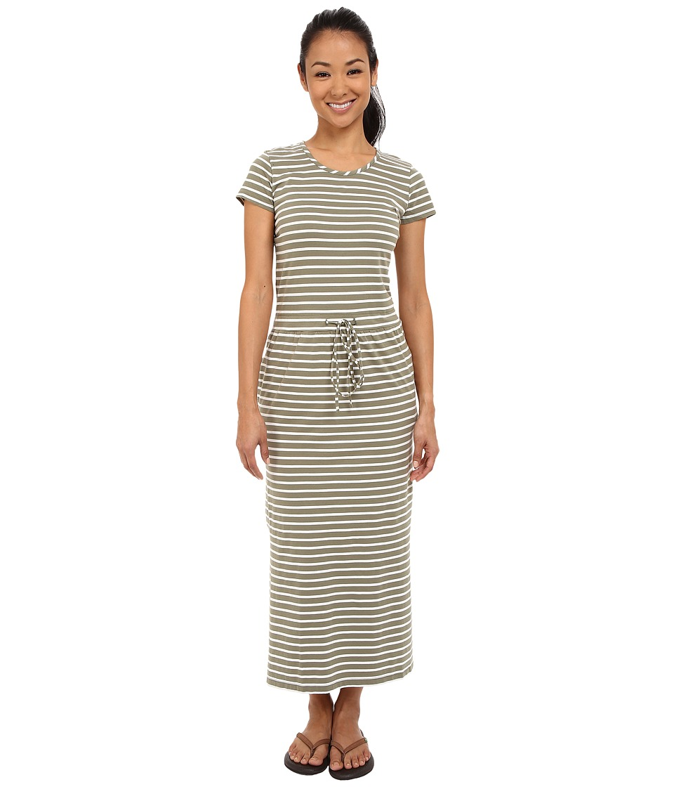 United By Blue - Ryde Maxi Dress (Green/White) Women's Dress