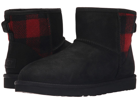 UGG - Classic Mini Plaid (Black) Women