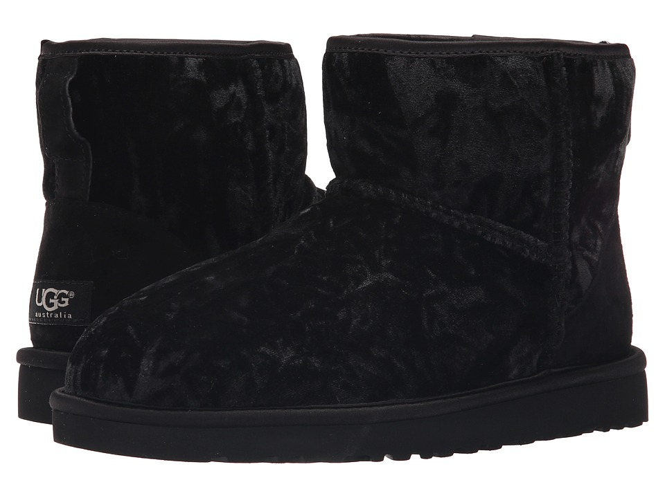 UGG - Classic Mini Velvet (Black) Women's Shoes