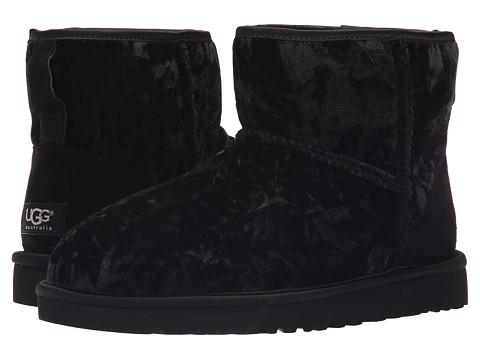 UGG - Classic Mini Velvet (Black) Women's Shoes