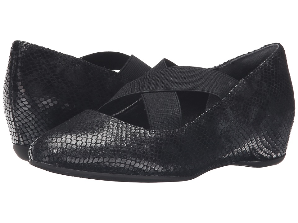 Rockport - Total Motion Etenia (Black Multi Snake) Women's Maryjane Shoes