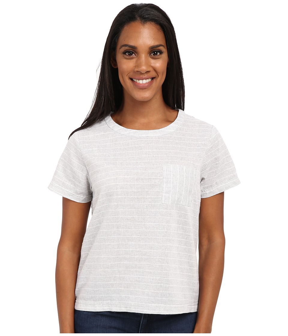 United By Blue - Tenton Cuff Shirt (Grey/White) Women's Clothing