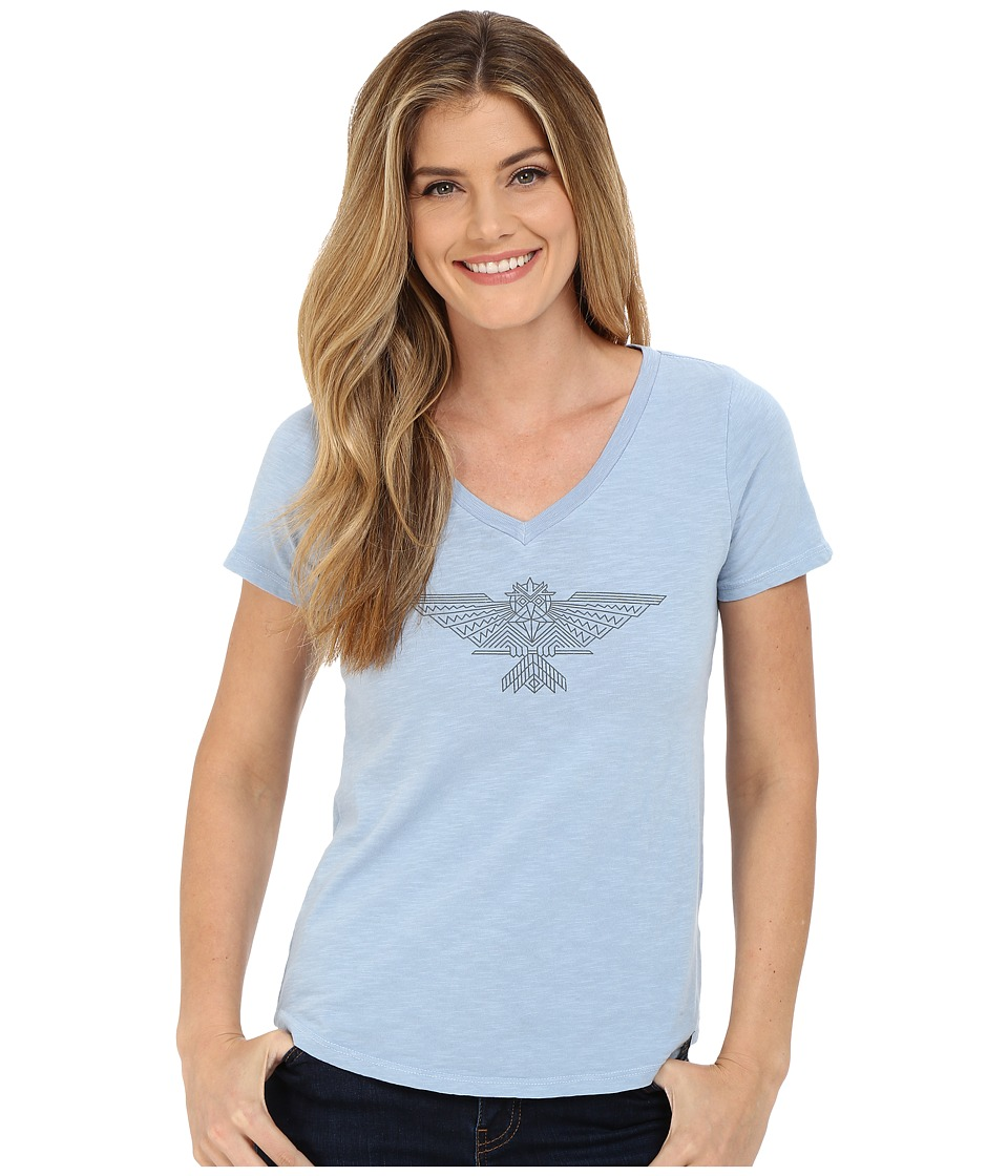 United By Blue - Owl (Dusty Blue) Women's Clothing