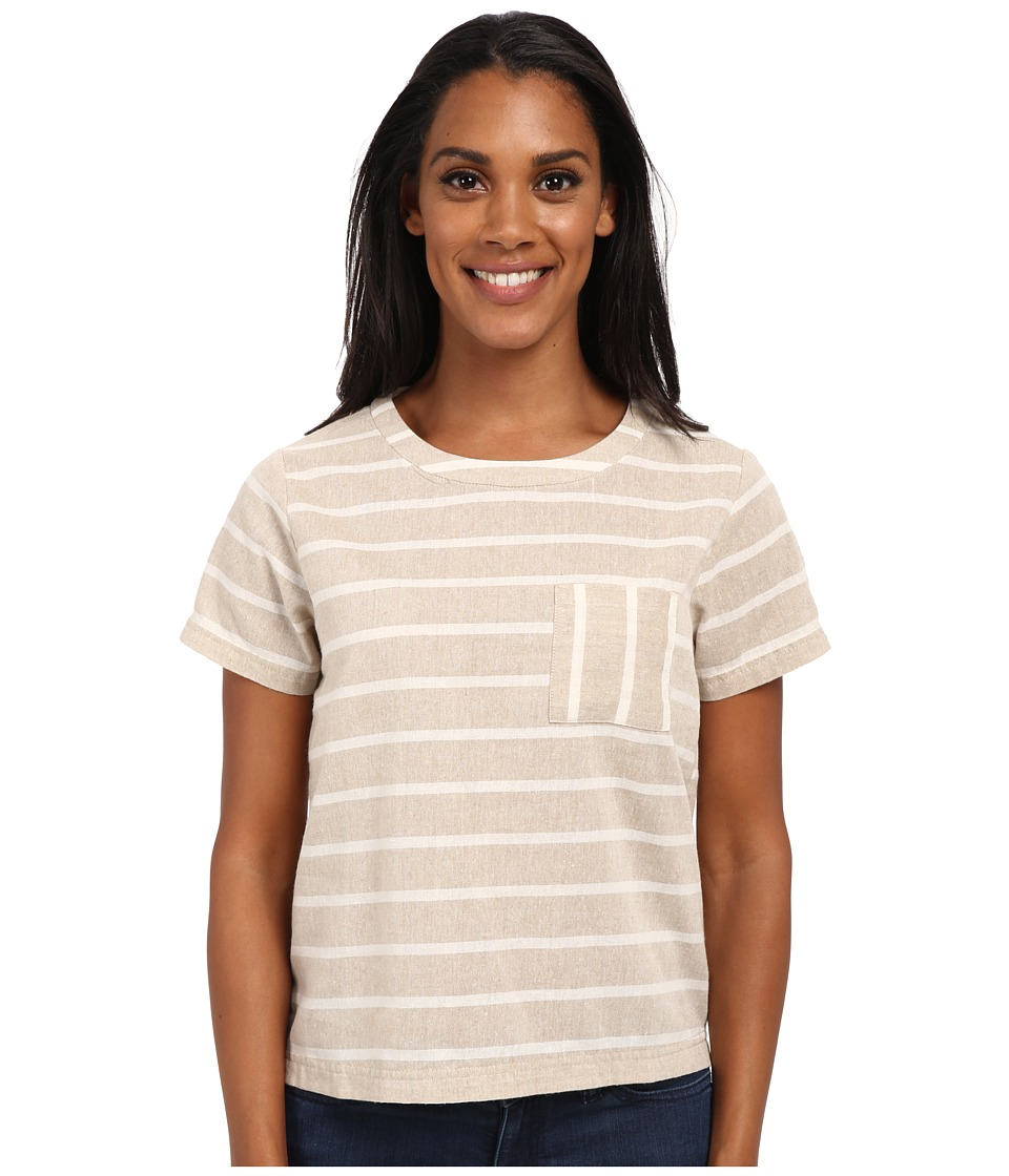 United By Blue - Tenton Cuff Shirt (Brown/White) Women's Clothing