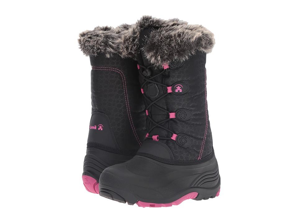 Kamik Kids Snowgypsy (Toddler/Little Kid/Big Kid) (Black/Magenta) Girls Shoes