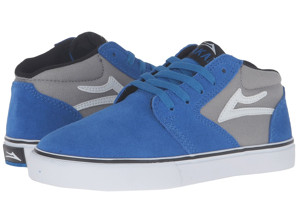 Lakai Fura High (Little Kid/Big Kid) (Blue/Grey Suede) Men