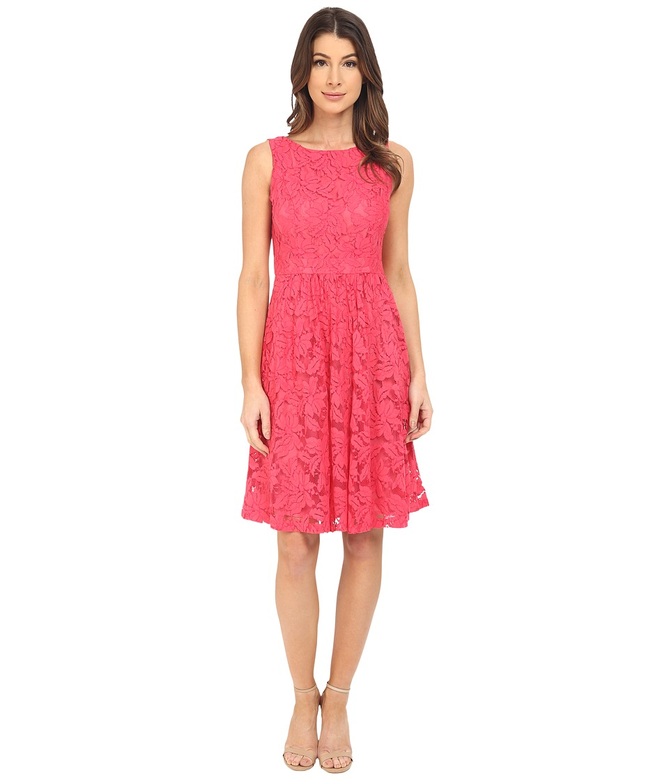 Donna Morgan Sleeveless Lace Fit and Flare with Back Detail Tent Dress
