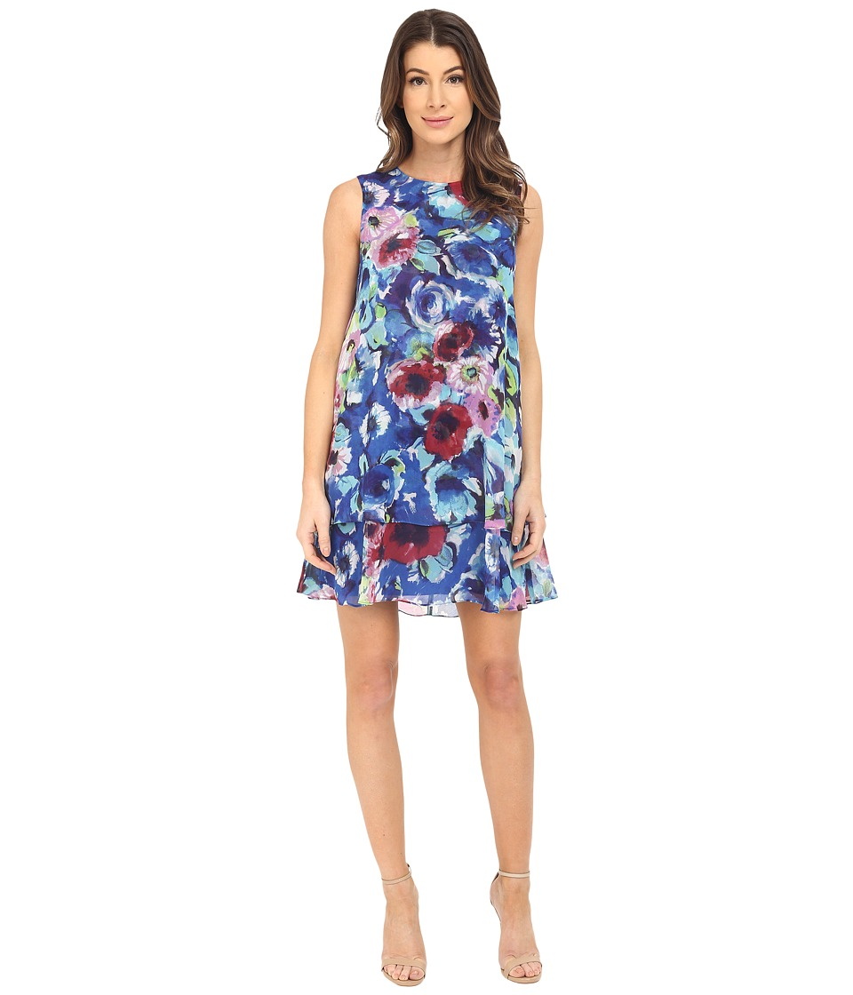 Donna Morgan - Sleeveless Chiffon Tent Dress (Celestial Multi) Women's Dress
