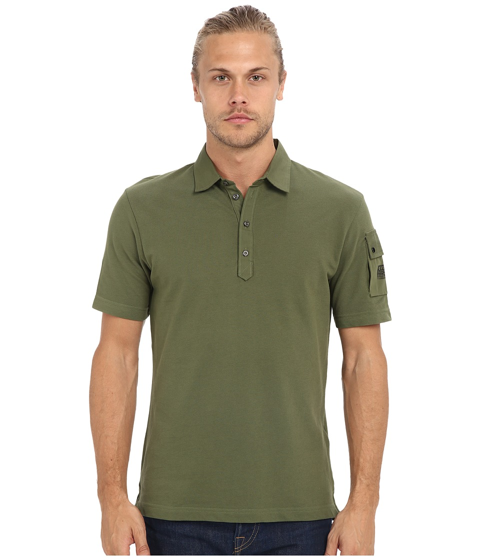 Diesel - T-Poll-Mix Shirt (Green) Men's Short Sleeve Pullover