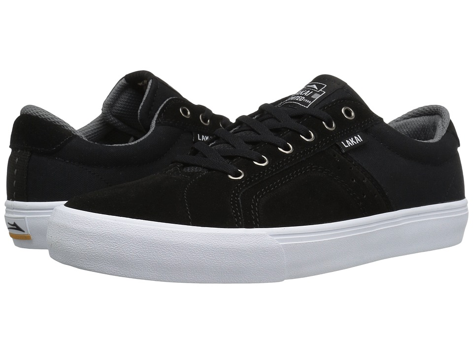 Lakai - Flaco (Black/Grey Suede) Men's Skate Shoes
