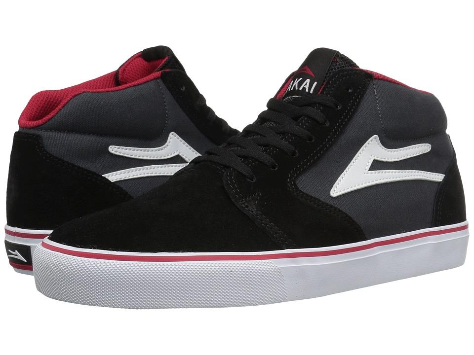 Lakai - Fura High (Black/Grey Suede) Men's Skate Shoes