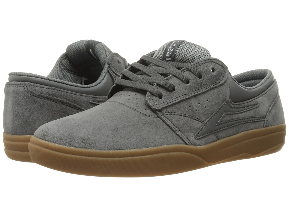 Lakai - Griffin XLK (Grey/Gum Suede) Men's Skate Shoes