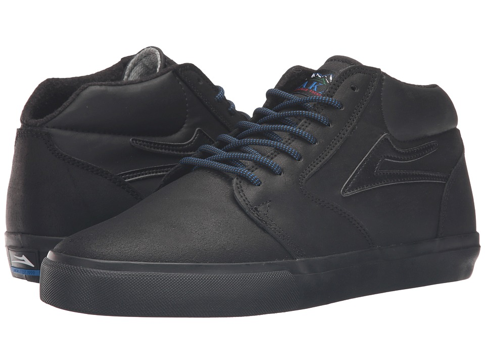 Lakai - Fura High Weather Treated (Black/Black Oiled Suede) Men's Skate Shoes