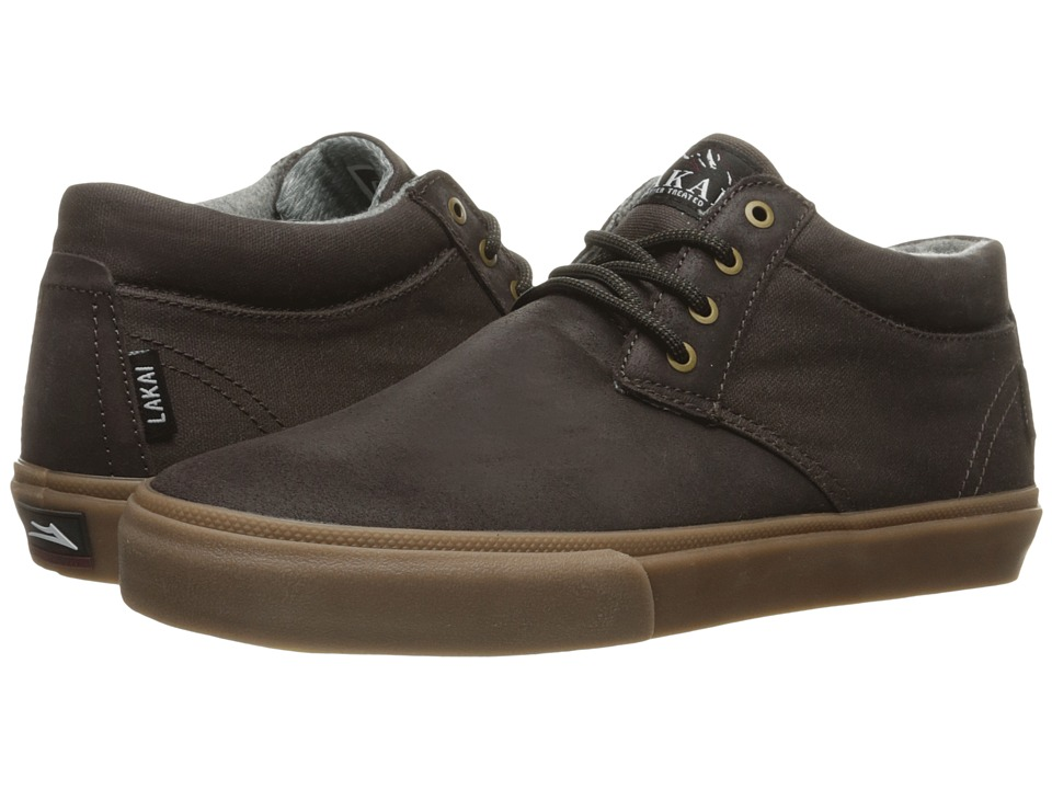 Lakai - MJ Mid Weather Treated (Espresso Oiled Suede) Men's Skate Shoes