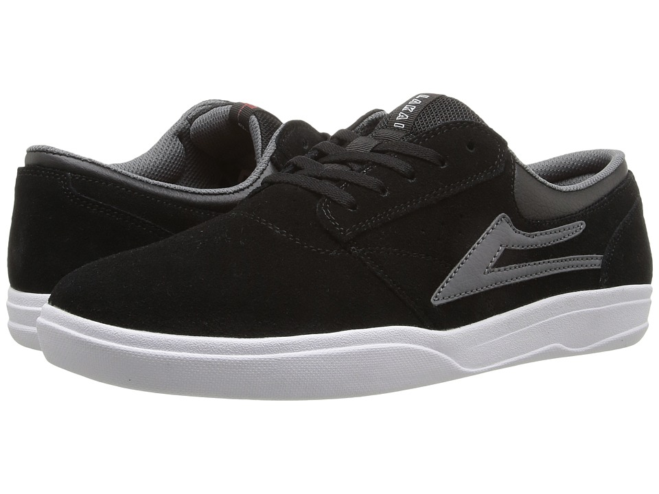Lakai - Griffin XLK (Black/Grey Suede) Men's Skate Shoes