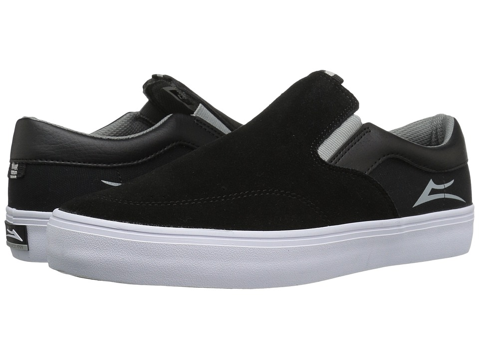Lakai - Owen (Black/Grey Suede) Men's Skate Shoes