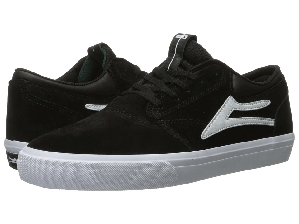 Lakai - Griffin (Black/White Suede 2) Men's Skate Shoes