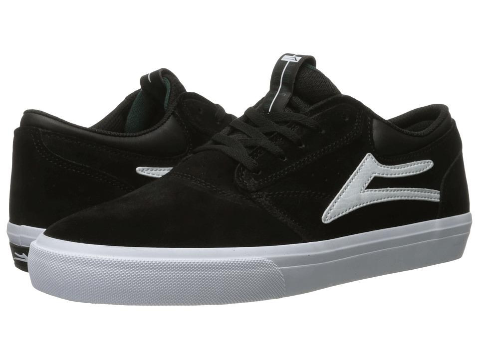 Lakai - Griffin (Black/White Suede 2) Men's Skate Shoes