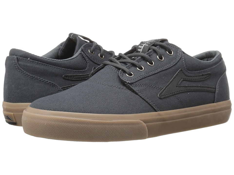 Lakai - Griffin (Grey/Gum Canvas) Men's Skate Shoes