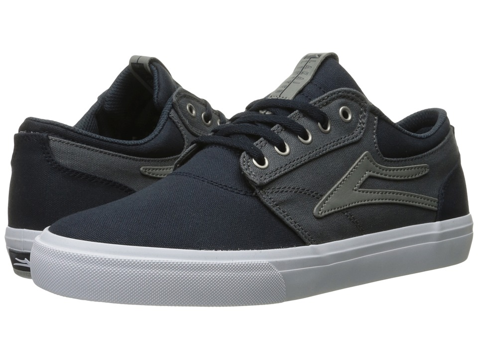 Lakai - Griffin (Navy/Grey Canvas) Men's Skate Shoes