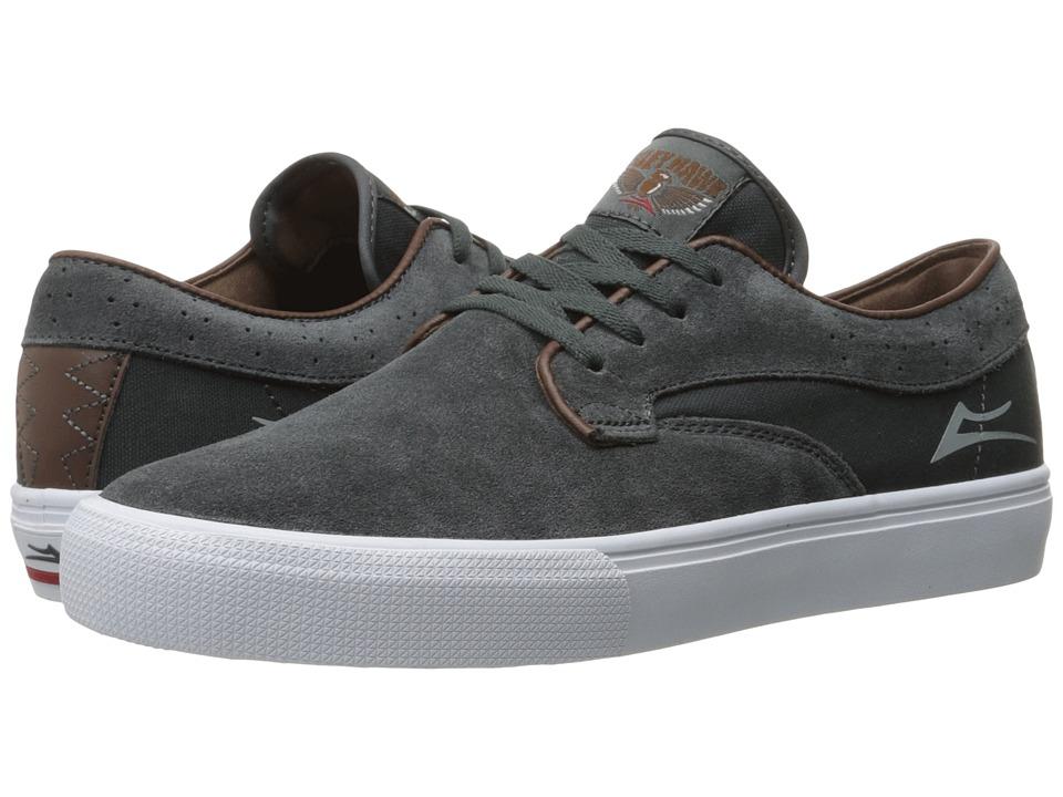 Lakai - Riley Hawk (Gargoyle Suede) Men's Skate Shoes