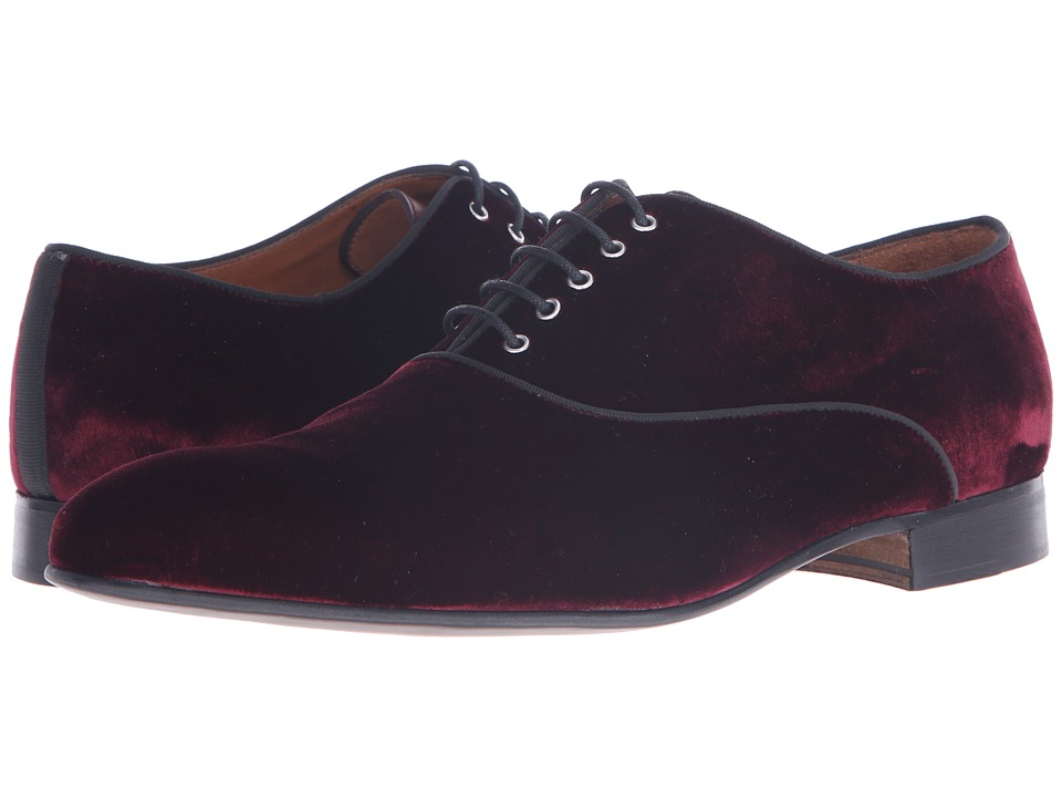 Massimo Matteo Velvet Lace-Up (Burgundy) Men