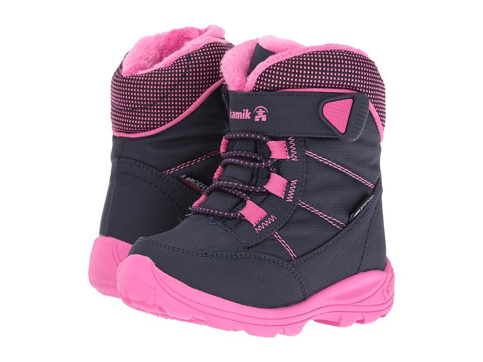 Kamik Kids Stance (Toddler/Little Kid/Big Kid) (Navy/Magenta) Girls Shoes
