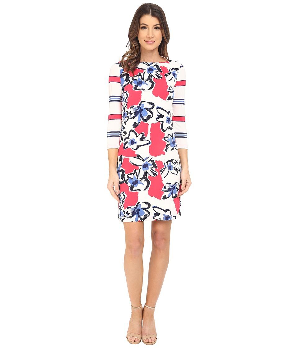 Donna Morgan - 3/4 Sleeve Printed Jersey (Tent Multi) Women's Dress