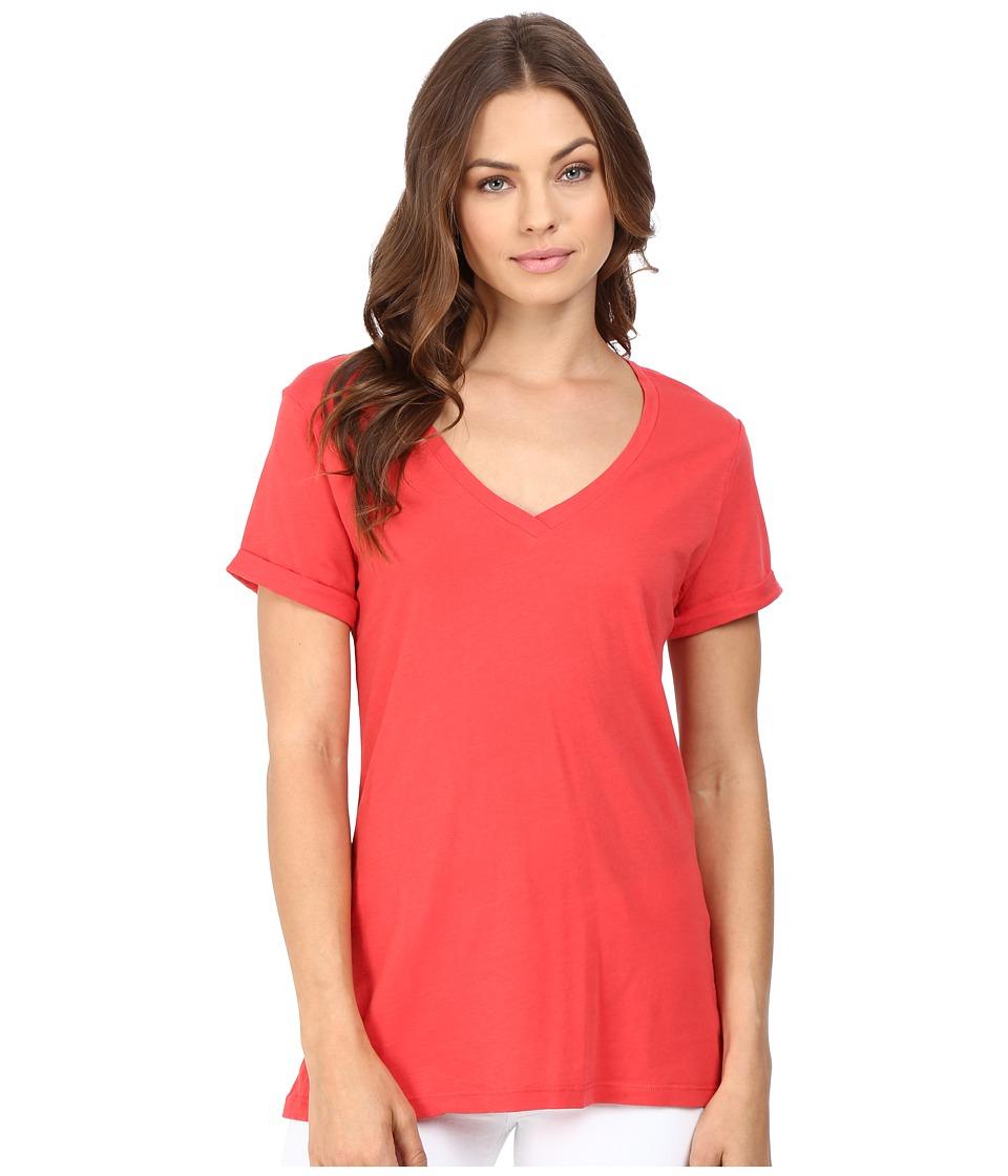 LAmade - Staple V S/S Tee (Geranium Red) Women's T Shirt