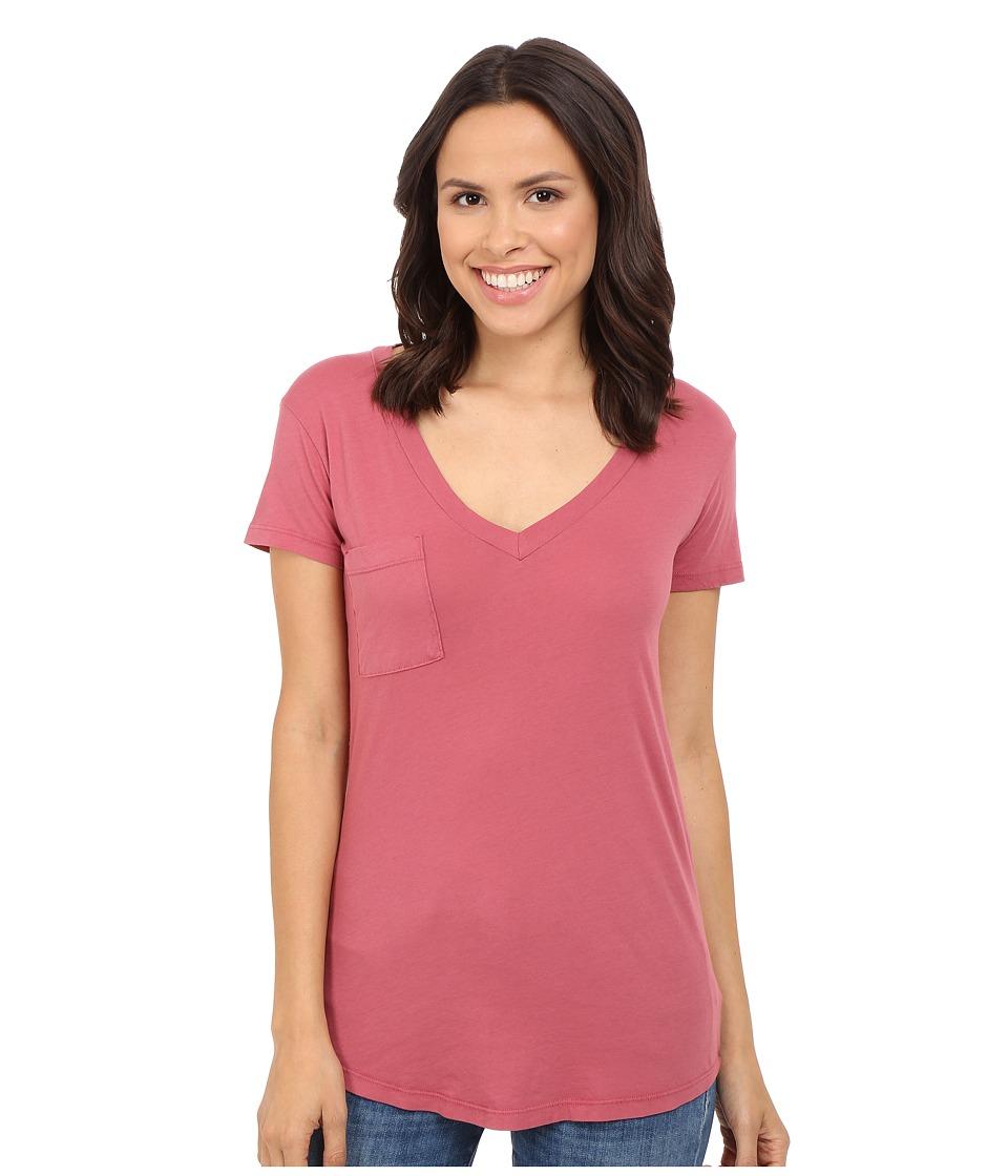 LAmade - V-Pocket Tee - Tissue Jersey (Sienna Rose) Women's Short Sleeve Pullover