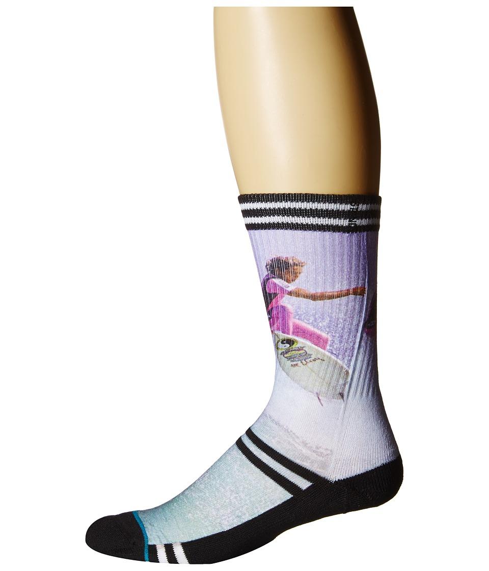 Stance - Fletcher (Black) Men's Crew Cut Socks Shoes