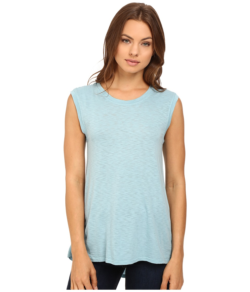 LAmade - High-Low Muscle Tee (Amalfi Blue) Women's T Shirt