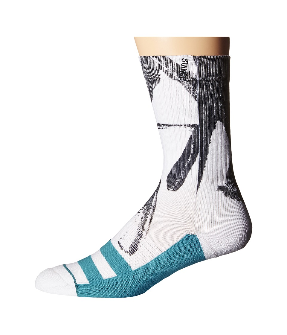 Stance - Particle (White) Men's Crew Cut Socks Shoes