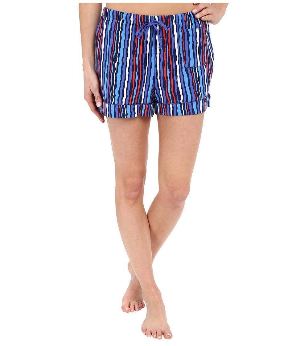 Vera Bradley - Pajama Shorts (Cobalt Stripe) Women's Pajama