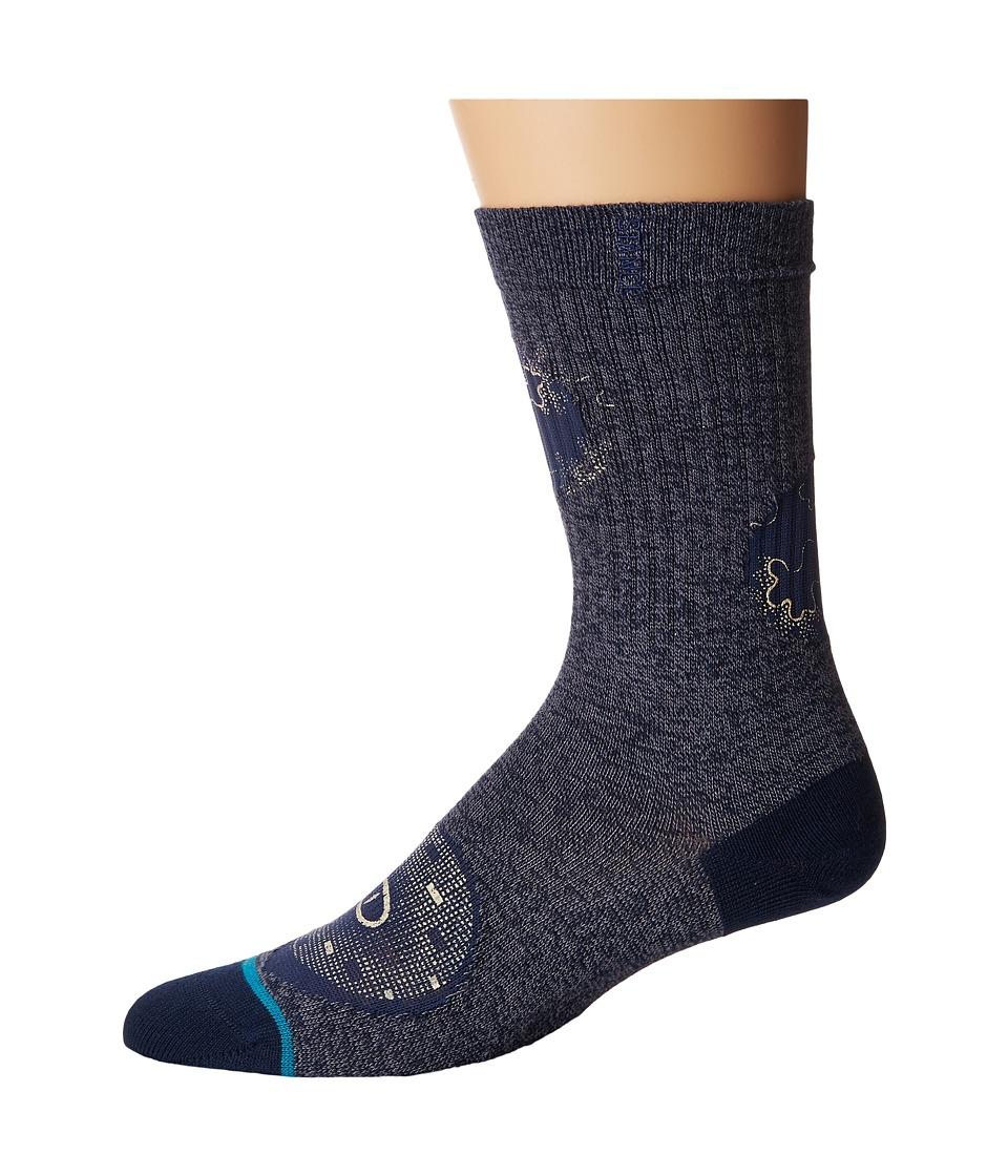 Stance - Deception (Navy) Men's Crew Cut Socks Shoes