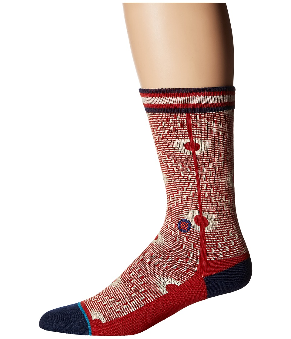 Stance - Back Alley (Red) Men's Crew Cut Socks Shoes