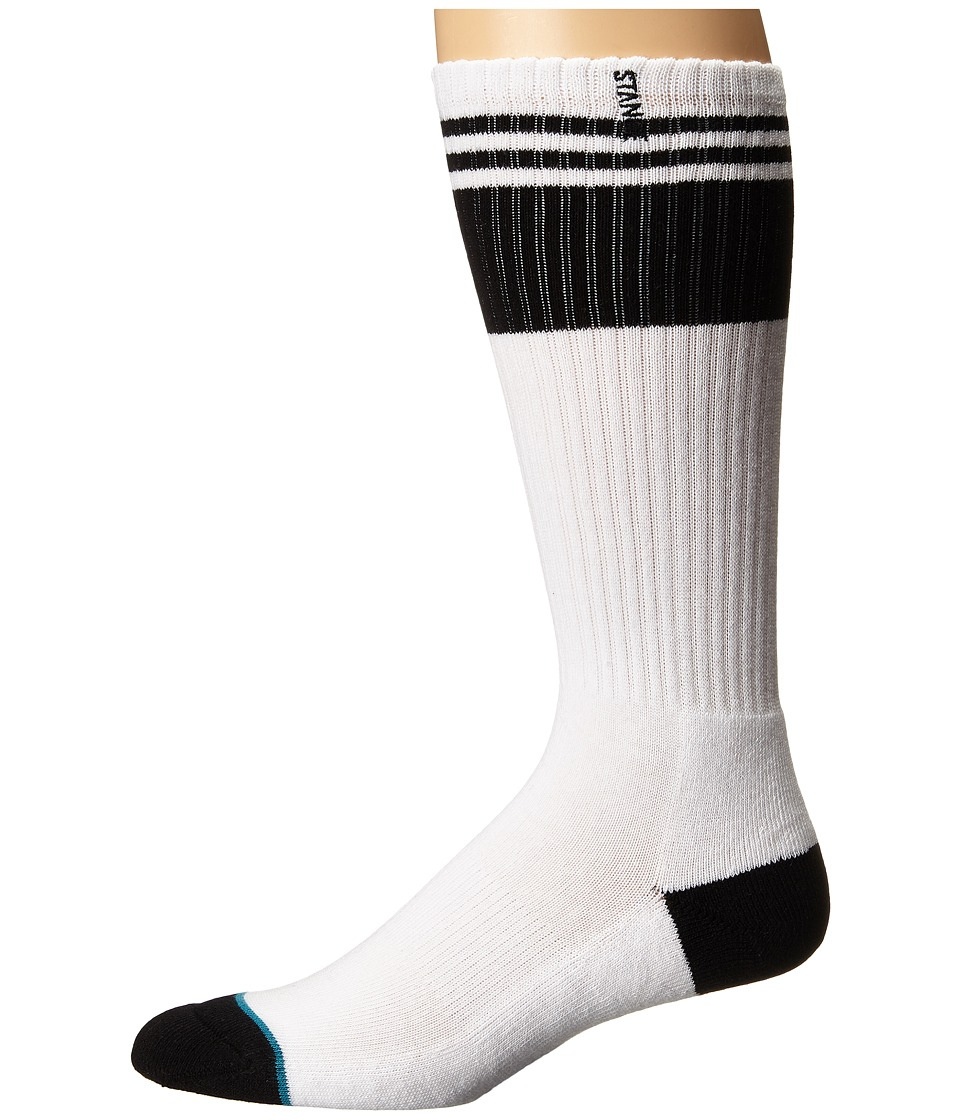 Stance - Creeper (White) Men's Crew Cut Socks Shoes