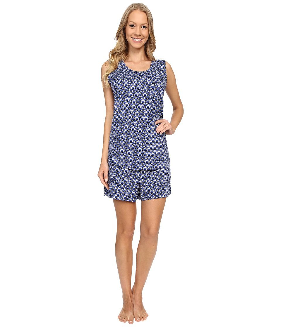 Vera Bradley - Summer Pajamas (Cobalt Blooms) Women's Pajama Sets