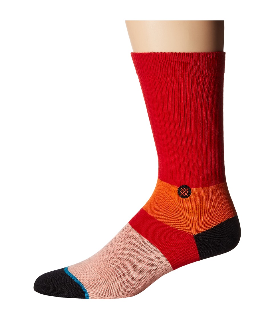 Stance - Komodo (Red) Men's Crew Cut Socks Shoes