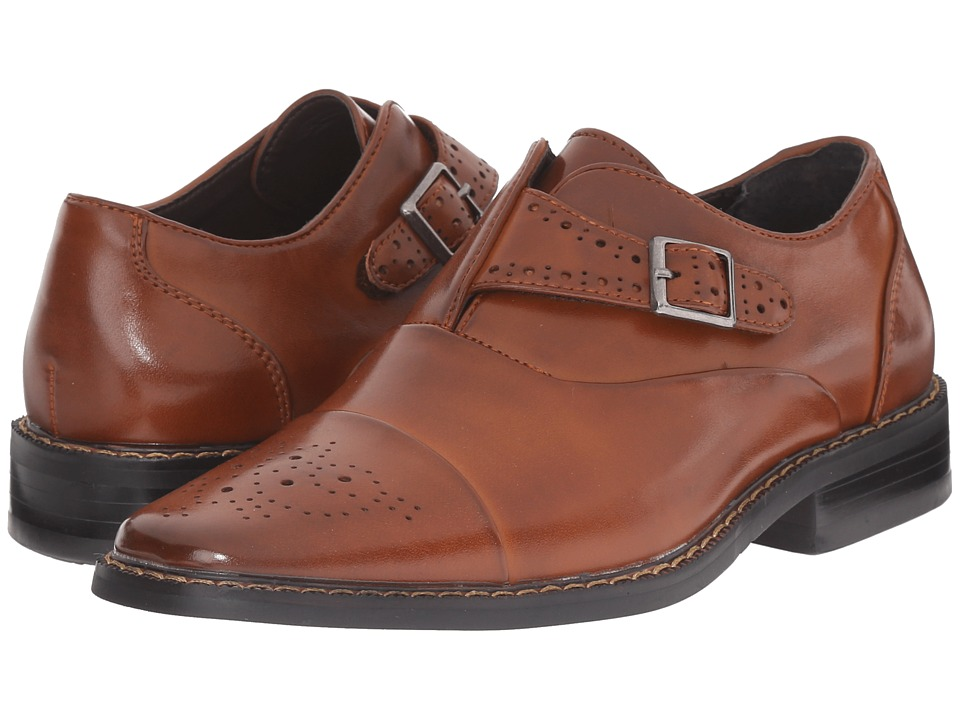 Stacy Adams Kids - Tipton (Little Kid/Big Kid) (Cognac) Boys Shoes