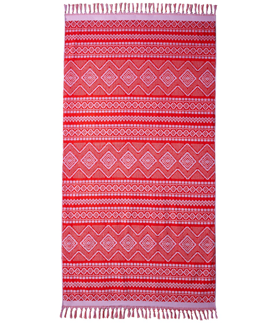 Vera Bradley - Tassel Beach Towel (Aztec Red) Bath Towels