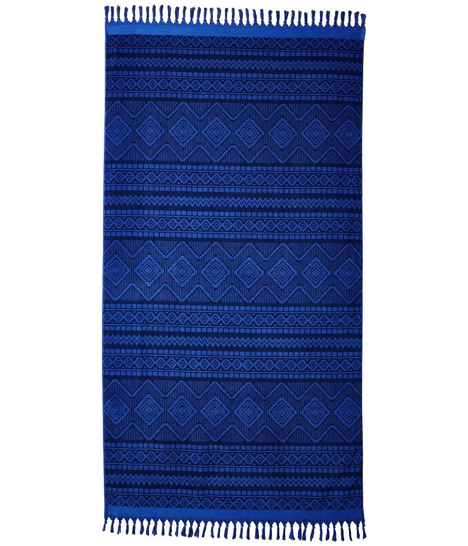 Vera Bradley - Tassel Beach Towel (Aztec Cobalt) Bath Towels
