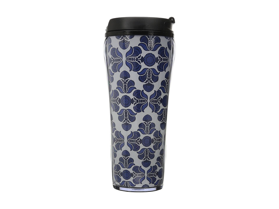 Vera Bradley - Travel Mug (Cobalt Tile) Individual Pieces Cookware