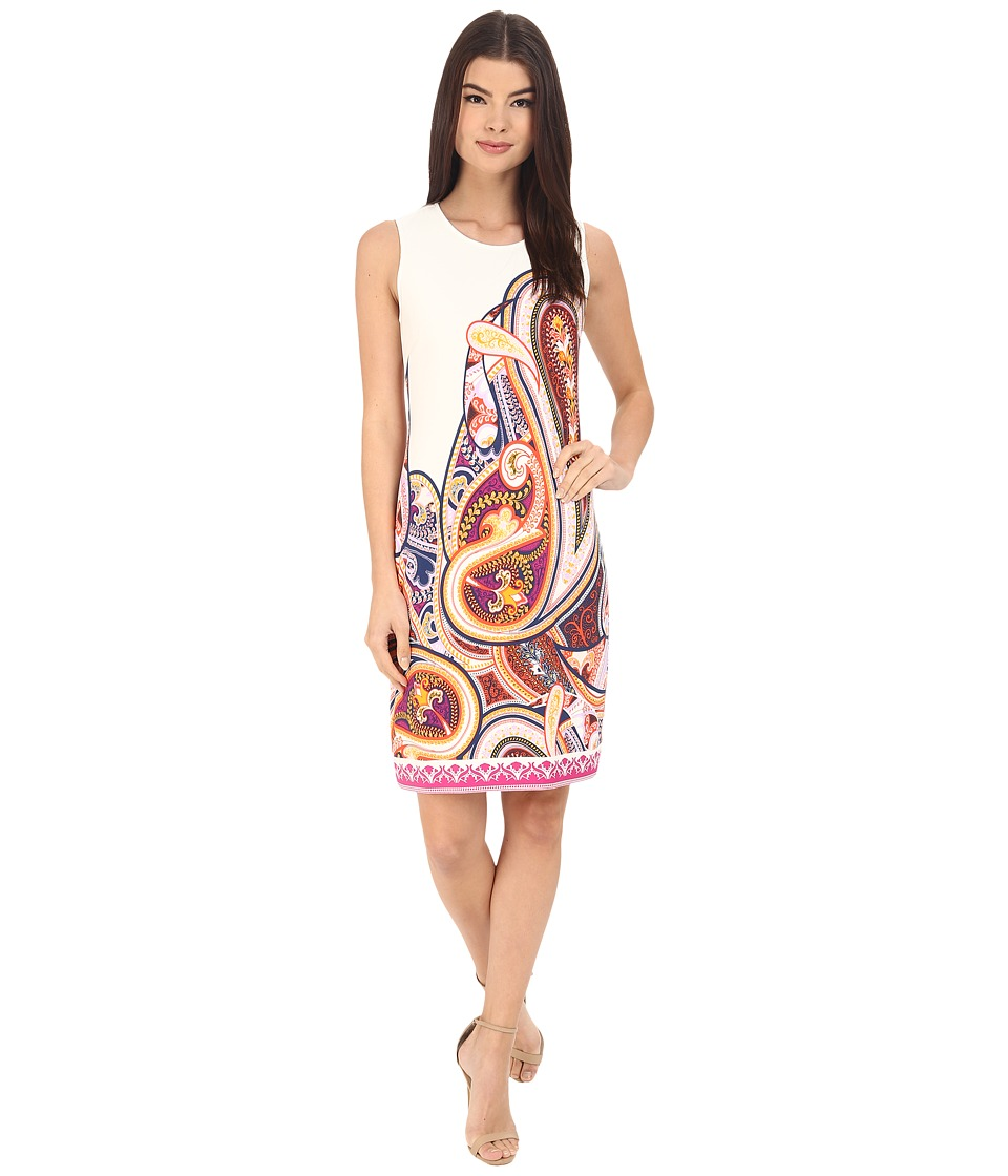 Donna Morgan - Sleeveless Printed Jersey Shift (Flux Multi) Women's Dress
